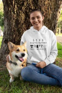 pullover-hoodie-mockup-featuring-a-woman-and-her-dog-sitting-by-a-tree-28040